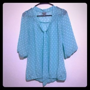 New w/o tags sheer turquoise polka dot Vanity